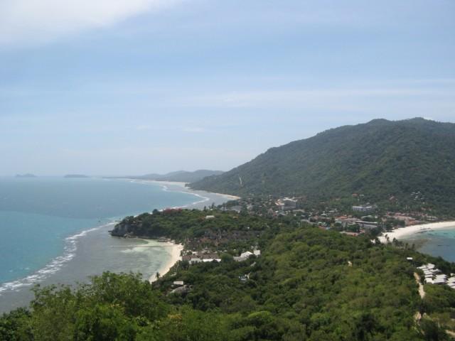 Хаад Рин, пляжи Хаад Рин Най (Западный) и Хаад Лила, юго-запад Ко Пангана, островки Ко Тае на заднем плане