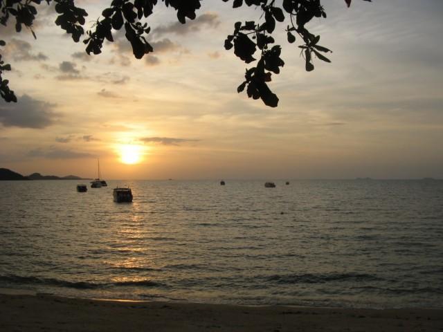 Закат над морским парком Анг Тонг