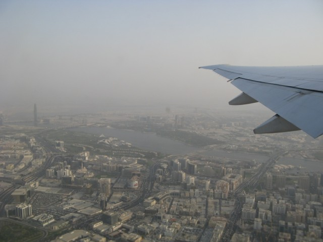 Дубаи в тумане. Жалко, обычно гораздо красивее и видно всё отлично(((