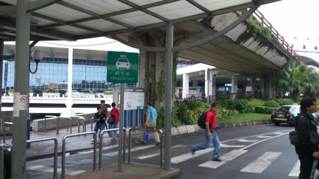Вид с остановки на паромный терминал