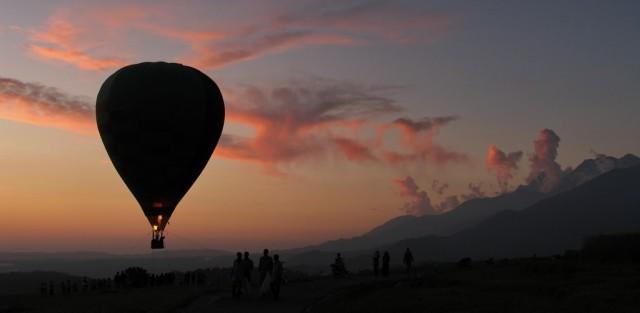 на закате в Бире