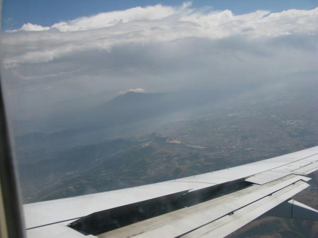 Везувий с самолета