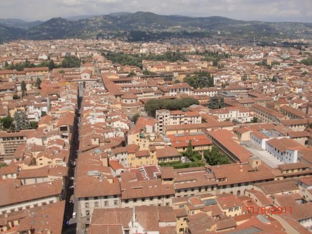 Вид с купола на Флоренцию 1