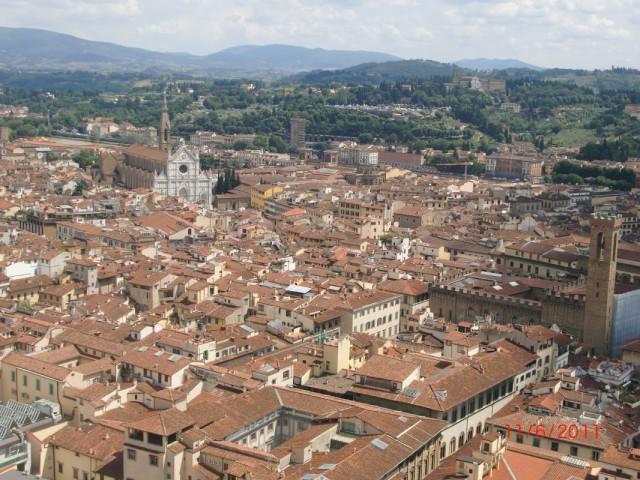 Вид с купола на Флоренцию  2