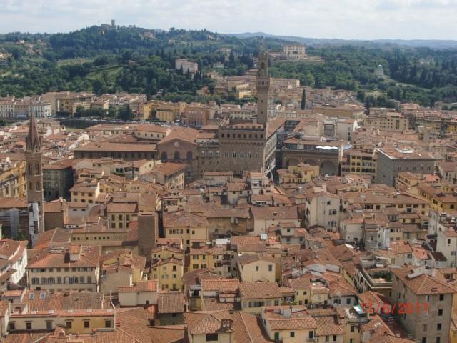 Вид с купола на Флоренцию  3