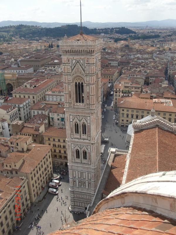 Вид с купола Санта Мария дель Фиоре на колокольню 1