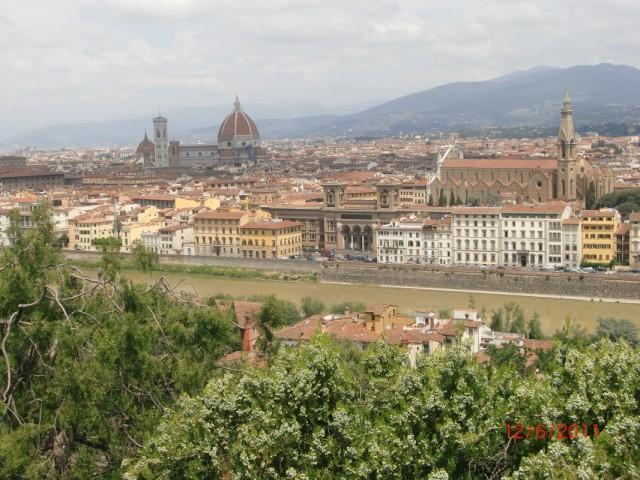 Флоренция - вид в площадки Микельанджело 1