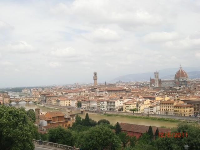 Флоренция - вид в площадки Микельанджело 2