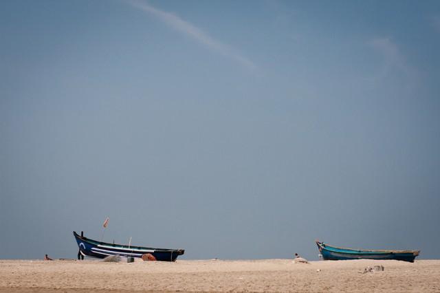 лодки на Мандреме