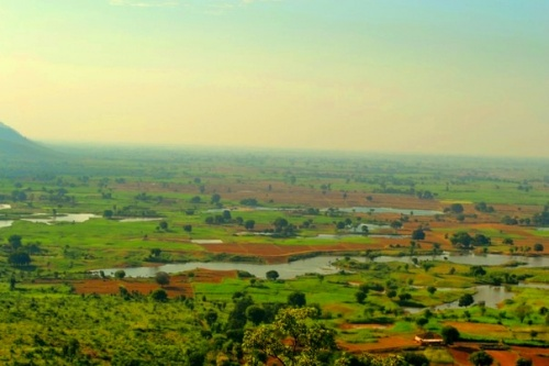 долина по дороге в Варанаси