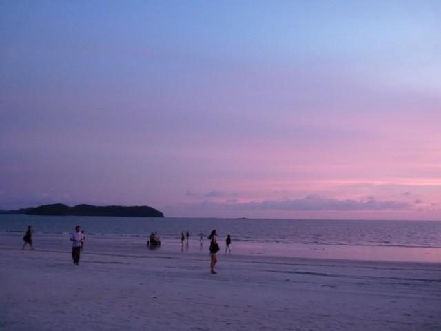 закат на Ченанг Бич