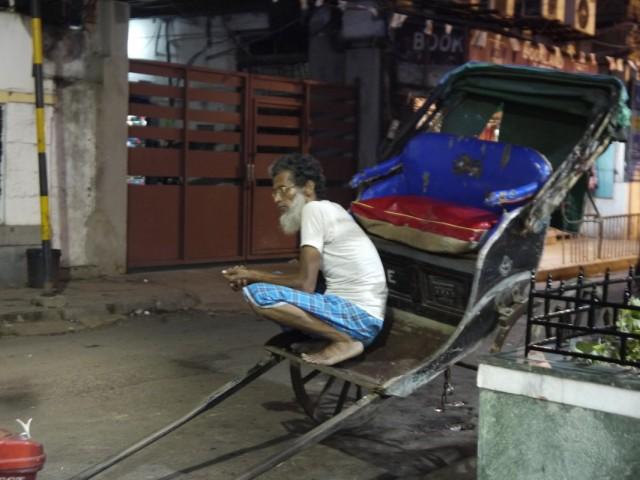Рикша, который бегает ногами.