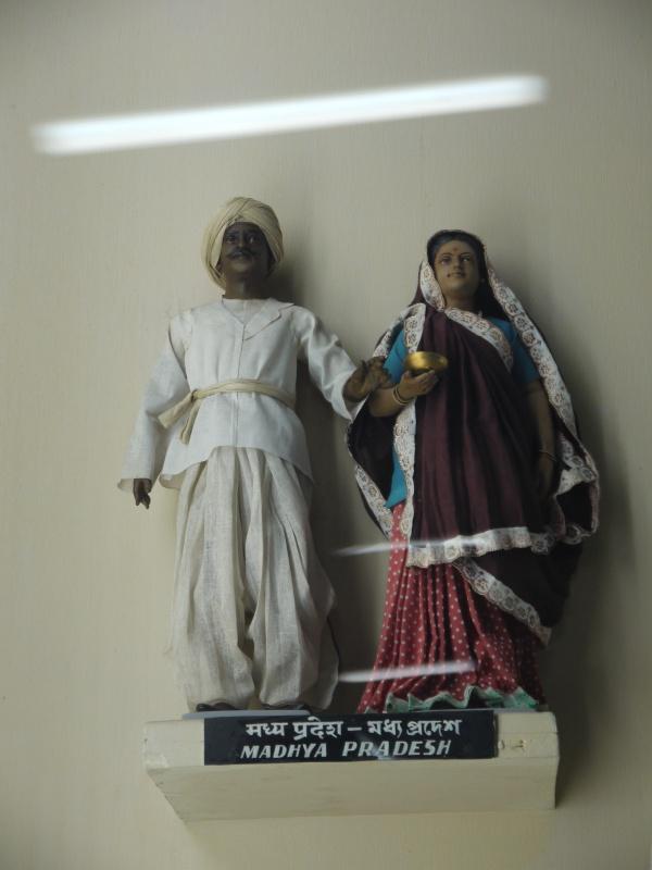 А вот это традиционный костюм Каджурахо