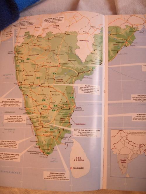 Вот карта Южной Индии  из LP