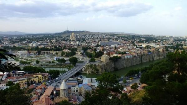 Панорама Тбилиси с Нарикалы