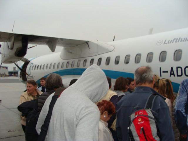 Посадка в ATR-72.