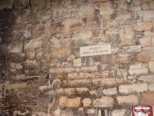 Место сбора поклонников, ожидавших Челентано с Обратной стороны Арены.