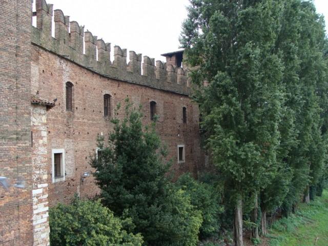 Вид с моста на дворцовые стены