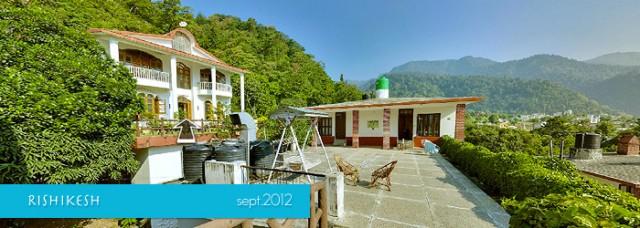 Ришикеш. Панорама отелей  Bhandari Swiss Cottage