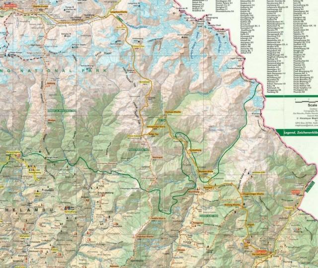 """Карта """"палаточной"""" части трека от Лангтанга до Ласт Ресорта."""