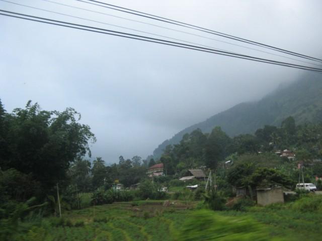 Кумбалвела проплывает мимо в тумане и мороси