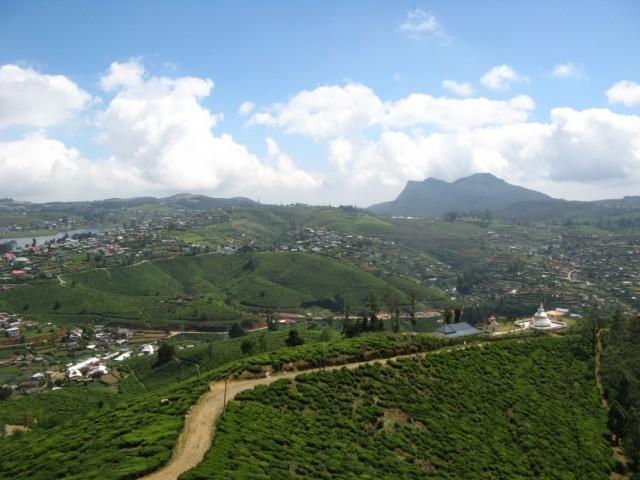 Панорамы Нувара Элии. Облака, Озеро, Чай, Гора, Пагода