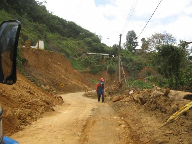 Ремонт дороги на Нану Ойю
