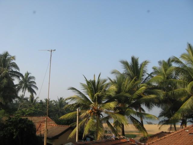 Утренний вид с балкона отеля