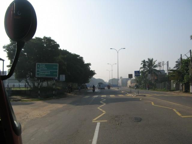 На подъезде к аэропорту Бандаранаике