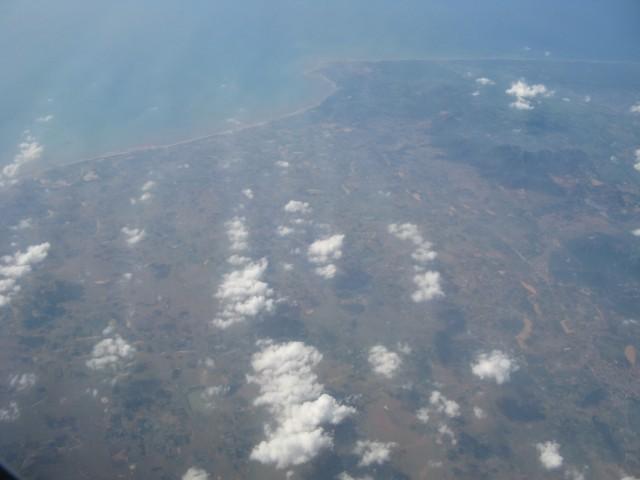Фото из января 2011. Индия с самолёта. Тамил Наду. Район Анжуграмама (Anjugramam) - Каньякумари (вверху)