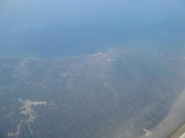 Фото из января 2011. Индия с самолёта. Керала. Район Коллама (Kollam)