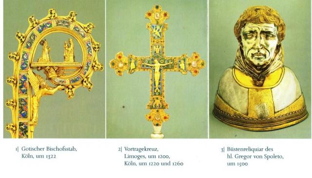 экспонаты сокровищницы - ритуальные предметы