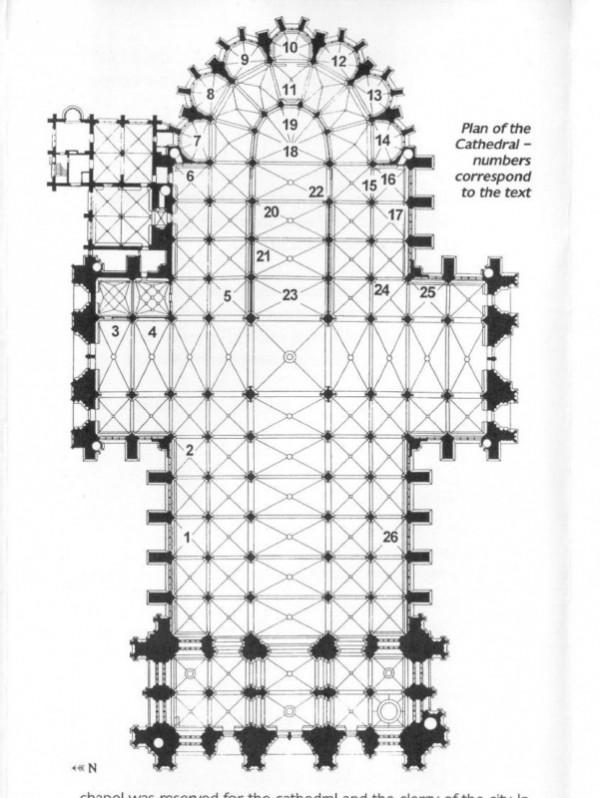план интерьера главного здания собора