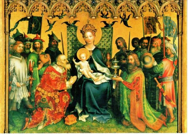 один из алтарей - подношения царей младенцу Христу