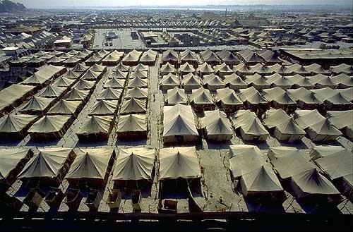 Палаточный городок во время Кумба-мелы