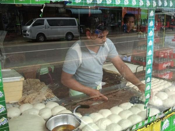 уличная пекарня в Trincomalee