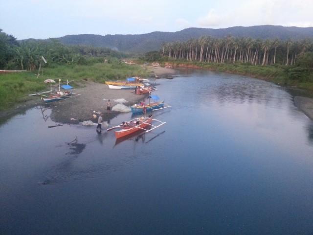 Обмелевшая река