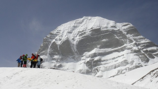 Северное лицо Кайлаша  - на леднике