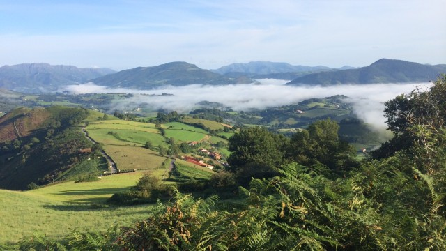 Пиренеи, вид в сторону франции