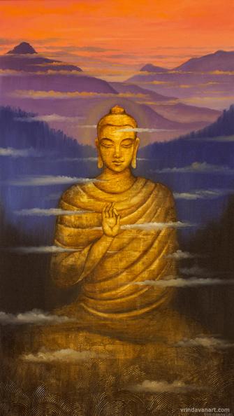 Будда. Проплывающие облака.работа Вриндавана Даса