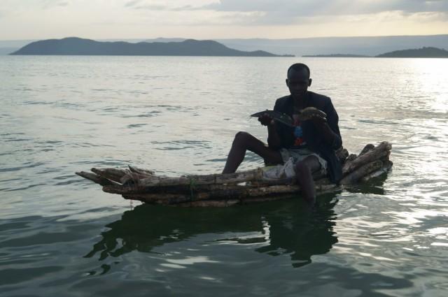 Рыбак на Баринго
