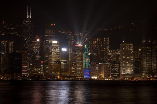 ну и конечно же... ночной Гонконг!