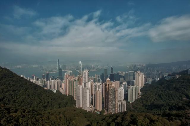 Вид на город с пика