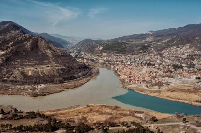 Слияние двух рек - Куры и Арагви