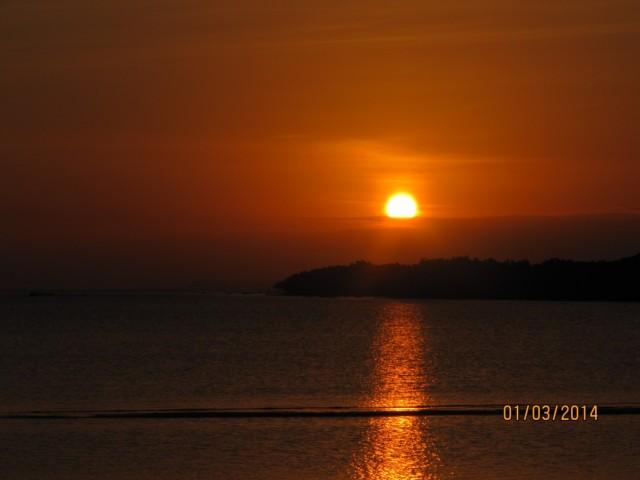 закат в Лоайе