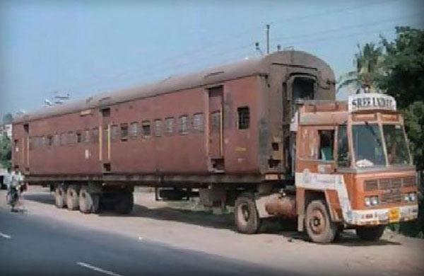 Индия: Приколы: Поездомобиль