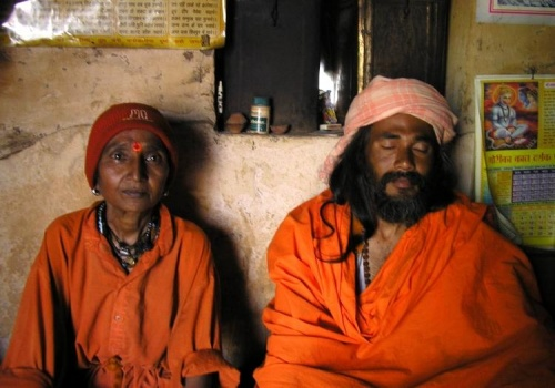 Баба Кришна входит в Самадхи