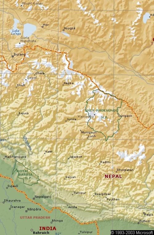 Кайлас на карте