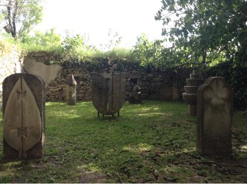 Сад камней, внутри