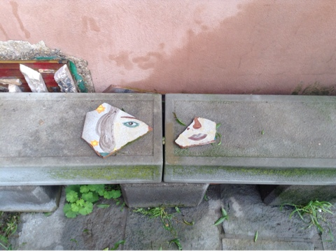 Скамейка во дворике